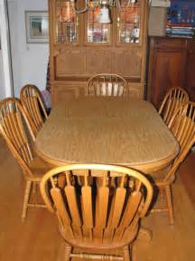 Oak Chairs Dining Room Richardson Brothers Dining Room Oak Hutch Table W 6 Chairs Great Condition Ebay