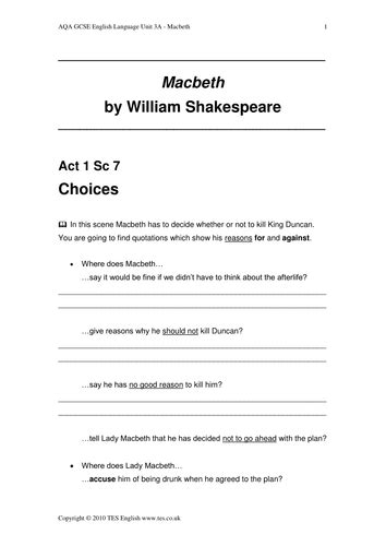 Macbeth Themes Quiz | macbeth reading quizzes by bespokeela us teacher lessons