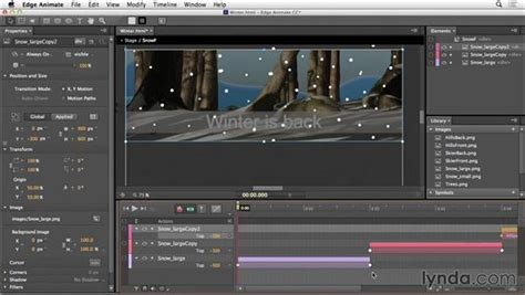 create  looping animation  edge animate