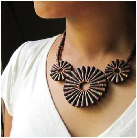 Paper Jewellry - recycled paper jewelry by hippie kingdom the beading gem