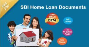 sbi housing loan documents documents required for bank of india home loan