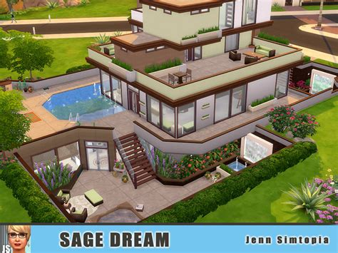 my dreamhouse the sims 4 house building w jenn simtopia s sage dream