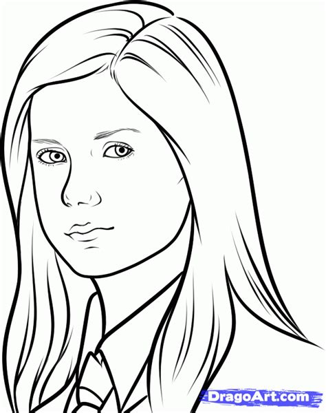 harry potter coloring book tutorial step 7 how to draw ginny weasley