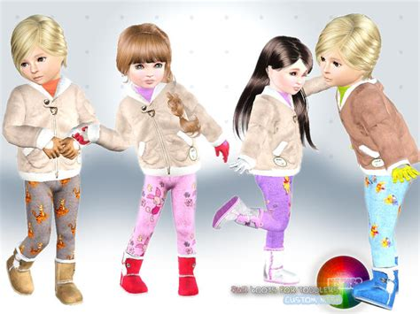 sims 3 toddler accessories natef005 s toddler fur boots