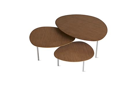 Set Of Three Coffee Tables Eclipse Nesting Tables Set Of 3 Design Within Reach