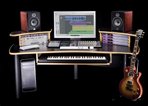 Kk Audio A1 Edit Desk Black W Lite Edge Sweetwater Com Audio Studio Desk