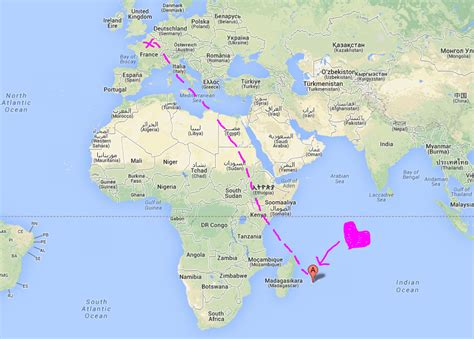 mauritius on the world map holidays 2 paper chains