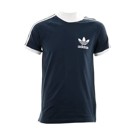S S T Shirt With Stripe adidas originals mens 3 stripe t shirt navy mens from