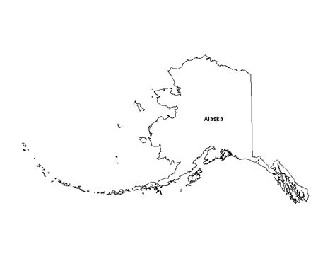 us map alaska state printable map of alaska printable maps