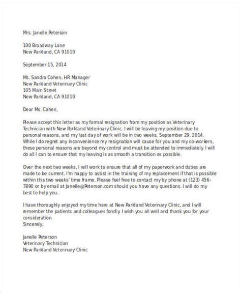 49 resignation letter exles
