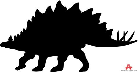 Stegosaurus clipart silhouette   Pencil and in color