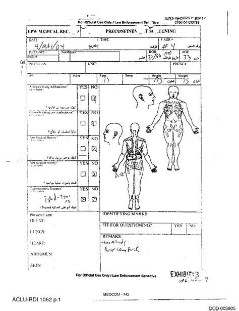 chiropractic personal injury report template report 33 year iraqi detainee mosul