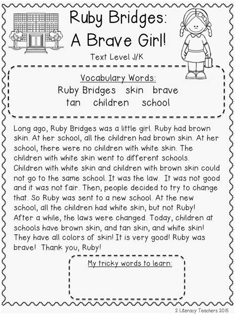 Ruby Bridges Worksheets by 126 Best Images About Social Studies On