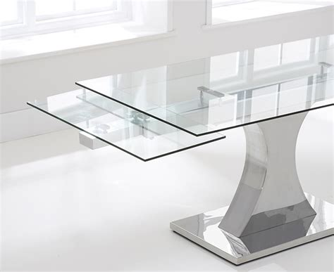 Glass Extending Dining Table Harris 160cm Glass Extending Dining Table With 6 Malibu Grey Chairs Harris