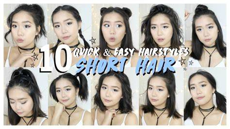 10 easy hairstyles for straight hair youtube 10 hairstyles for short hair fast easy youtube