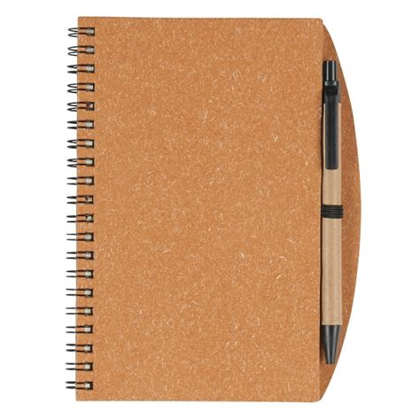 6100 Eco Inspired Spiral Notebook Pen - 5 quot x 7 quot eco inspired spiral notebook pen