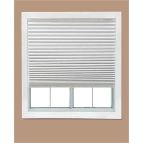 interior windows home depot redi shade white paper light filtering shade 36 in w x