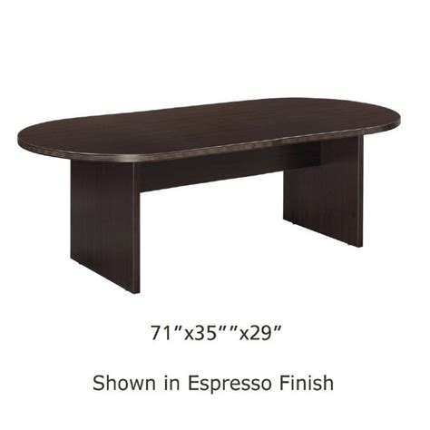 6 Foot Tables by 6 Foot X 3 Foot Racetrack Conference Table Espresso