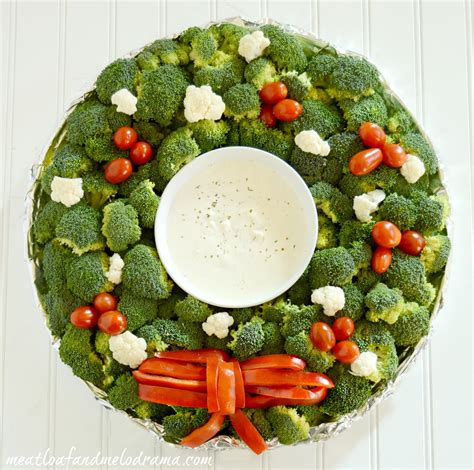 christmas wreath appetizers veggie wreath platter meatloaf and melodrama
