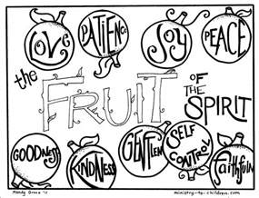 fruit of the spirit coloring pages sunday school lesson equipped for godliness 2 1 3
