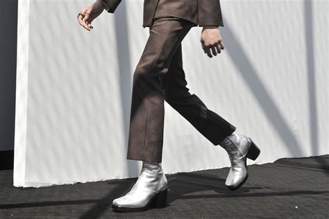 high heels mens shoes balenciaga introduces high heel boots for chiko