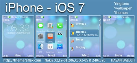 qmobile x2 themes free download iphone ios 7 theme for nokia x2 00 x2 02 x2 05 x3 00