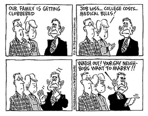 Gay marriage cartoon analysis uncle