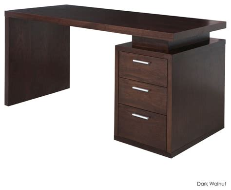 Houzz Office Desk Benjamin Office Desk Walnut Modern Desks And Hutches By Inmod