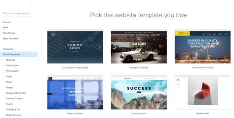 wix templates wix change template on template website from scratch