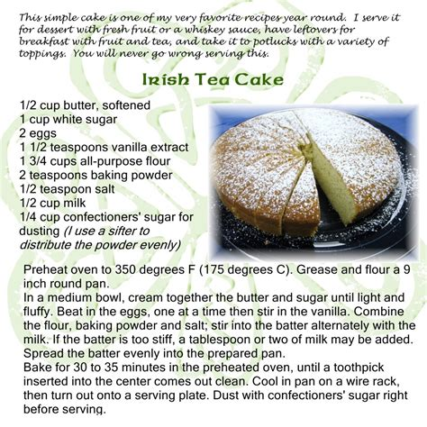 recipes for tea cake recipe
