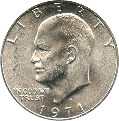 1971 s eisenhower dollars silver dollar ms66 pcgs at amazon s collectible coins store