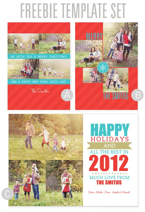 the best collage template for greeting cards diy photo cards using digital templates