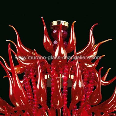 kronleuchter rot glas quot desdemona quot murano glas kronleuchter murano glass