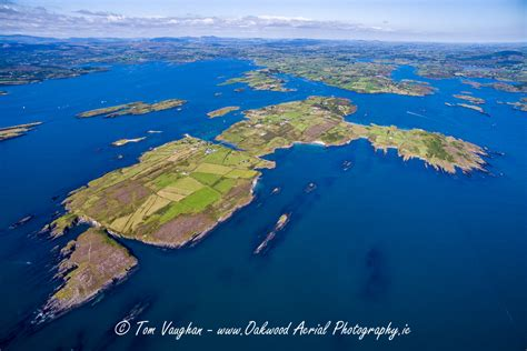 Oakwood Island aerial photos of coastal islands around west cork