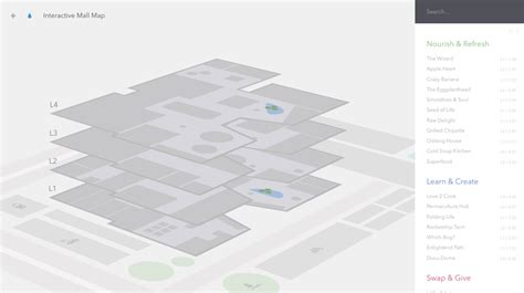 Office Floor Plan Icons interactive 3d mall map codrops