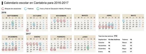 aprobado el calendario escolar de cantabria 2016 2017 con