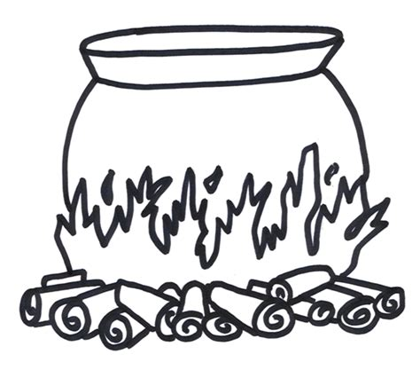 Witch Cauldron Coloring Page | witches cauldron coloring pages cauldron coloring page