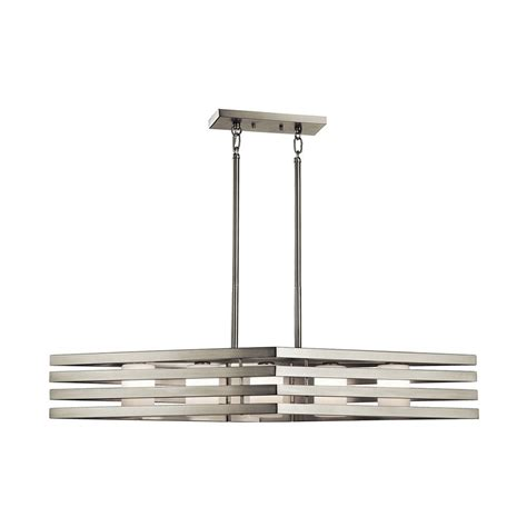 brushed nickel kitchen lighting shop kichler realta 40 in w 5 light brushed nickel kitchen