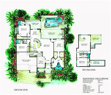 100 florida house plans with pool spacious florida house