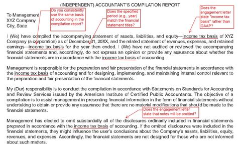 compilation report sle financial engagement letter 28 images sle audit