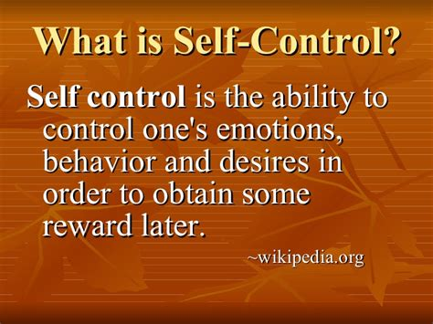 what is selves building self discipline in our students