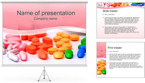 Tablets And Pills Powerpoint Template Backgrounds Id 0000002178 Smiletemplates Com Pills Powerpoint Template