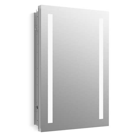 surface mount medicine cabinet home depot kohler verdera 20 in w x 30 in h surface mount lighted