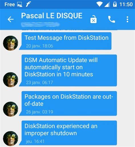 sms via to mobile nas synology notification par sms via free mobile