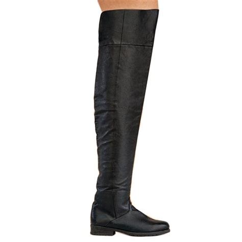 mens thigh high leather boots tsaa heel