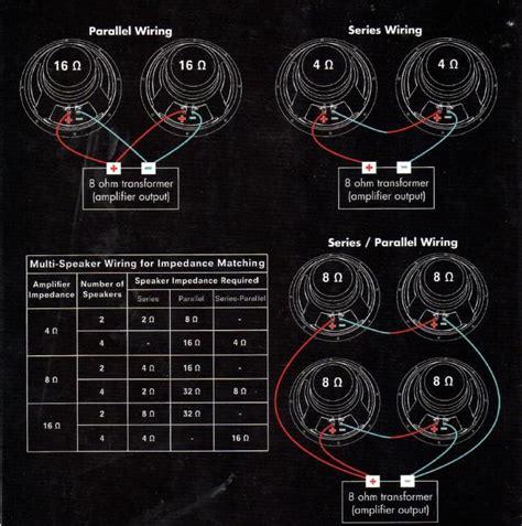 series parallel wiring 8 speakers series free engine