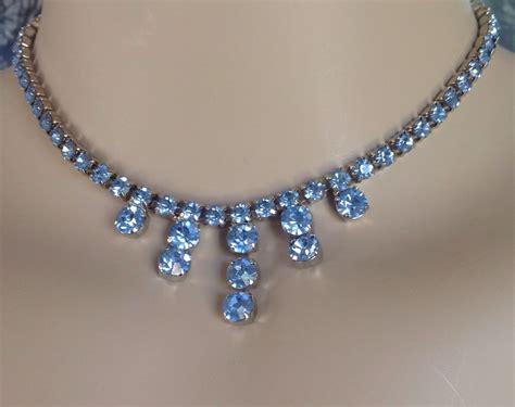 how to make rhinestone jewelry vintage blue rhinestone necklace rhinestone jewelry bridal