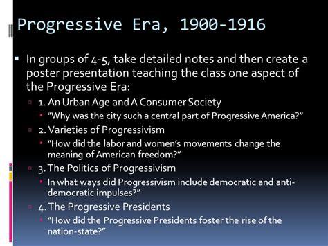 Progressive Era Essay Prompt by Weber Apush Progressives Ppt