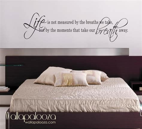 bedroom wall decals life is not measured wall decal love wall decal bedroom