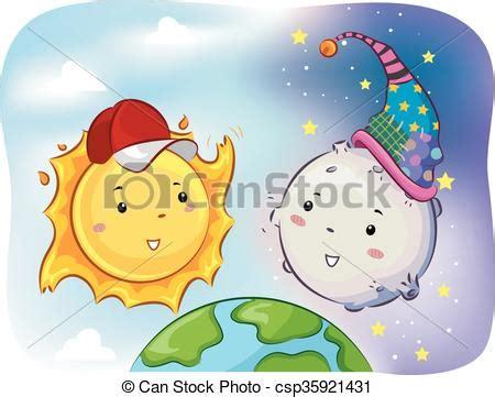 imagenes sol y luna juntos para hi5 vectores de sol mascota luna juntos cara mascota